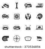 car shop icon set for web sites ... | Shutterstock .eps vector #373536856