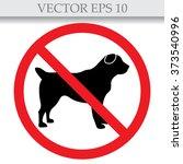 no dog sign  vector...