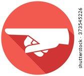 finger pointing flat icon | Shutterstock .eps vector #373545226