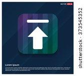 vector up arrow icon. vector... | Shutterstock .eps vector #373545352