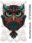 owl | Shutterstock .eps vector #373553086
