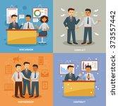 business life design concept... | Shutterstock .eps vector #373557442