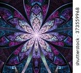 dark colorful fractal flower ... | Shutterstock . vector #373559968