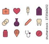 medical symbols. vector...