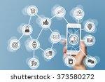 digital online marketing... | Shutterstock . vector #373580272