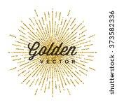 gold glitter sparkles bright... | Shutterstock .eps vector #373582336
