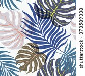 beautiful seamless tropical... | Shutterstock .eps vector #373589338