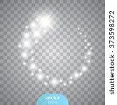 vector glowing stars  lights... | Shutterstock .eps vector #373598272