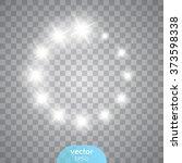 vector glowing stars  lights...   Shutterstock .eps vector #373598338