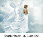 women fantasy flying gown ... | Shutterstock . vector #373605622