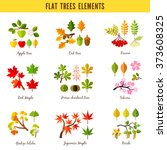 set of flat trees elements.... | Shutterstock .eps vector #373608325