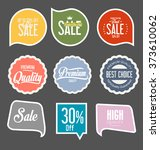 sale labels collection | Shutterstock .eps vector #373610062