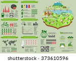 ecology infographic elements... | Shutterstock .eps vector #373610596