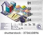 illustration of infographic... | Shutterstock .eps vector #373610896