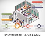 illustration of info graphic... | Shutterstock .eps vector #373611232