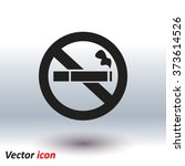 no smoke icon. stop smoking... | Shutterstock .eps vector #373614526