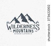 wilderness mountains outdoor... | Shutterstock .eps vector #373622002