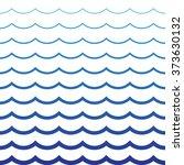 wave blue pattern. sea... | Shutterstock .eps vector #373630132