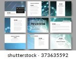 set of 9 vector templates for... | Shutterstock .eps vector #373635592
