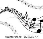 vector musical notes staff... | Shutterstock .eps vector #37363777