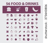 food  drinks  grocery  icons ... | Shutterstock .eps vector #373643806