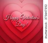 happy valentines day vector... | Shutterstock .eps vector #373647352
