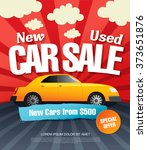 car sale. vector illustration | Shutterstock .eps vector #373651876