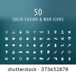 set of 50 universal casino and... | Shutterstock .eps vector #373652878