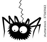 black halloween spider | Shutterstock .eps vector #37365463