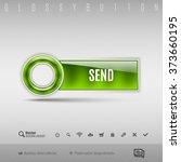 green modern plastic button... | Shutterstock .eps vector #373660195