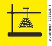 flask vector image on yellow...