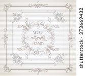 vector set of calligraphic...   Shutterstock .eps vector #373669432