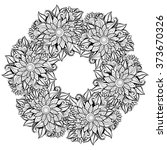 monochrome floral background.... | Shutterstock . vector #373670326
