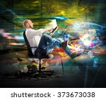 super fast connection | Shutterstock . vector #373673038