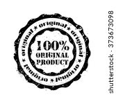 rubber stamp 100  original... | Shutterstock .eps vector #373673098