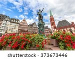 frankfurt old town with the... | Shutterstock . vector #373673446
