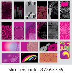 big set of vector colorful... | Shutterstock .eps vector #37367776
