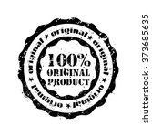 rubber stamp 100  original... | Shutterstock . vector #373685635