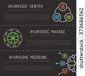 ayurveda vector illustration... | Shutterstock .eps vector #373686562