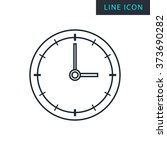 modern thin line icon of clock. ...