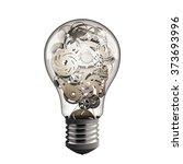 gear in the lightbulb | Shutterstock . vector #373693996