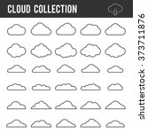 cloud outline collection.... | Shutterstock .eps vector #373711876