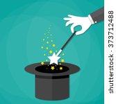 cartoon magicians hands in... | Shutterstock .eps vector #373712488