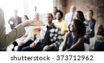 presentation seminar group... | Shutterstock . vector #373712962