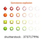 cartoon colorful gemstones...