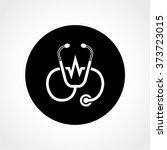 stethoscope icon isolated on...