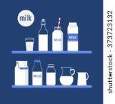 vector set of packaging for... | Shutterstock .eps vector #373723132