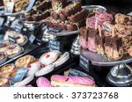 a selection of cakes and... | Shutterstock . vector #373723768