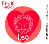 signs of the zodiac. leo.... | Shutterstock .eps vector #373728772