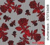 Black Red Rose Lace Design...